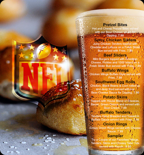 NFL menu at MountainSide